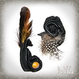 feathers-brooches